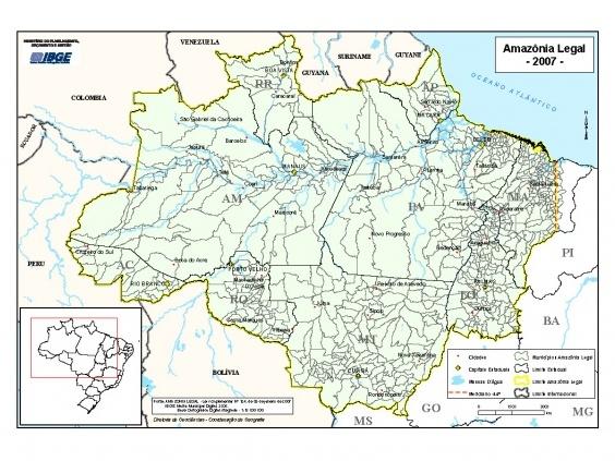 Floresta Amazônica Localização Ambientebrasil Ambientes